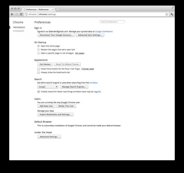 Google Chrome 18 0 xxxx yy - Back Page News - Neowin