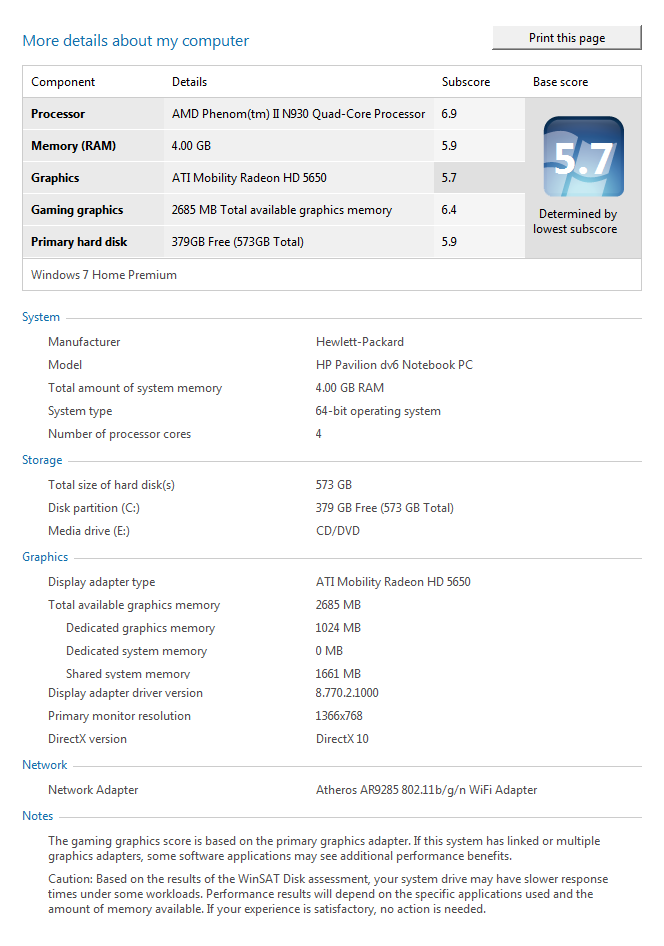 Your Windows Experience Index rating! - Page 23 - Microsoft