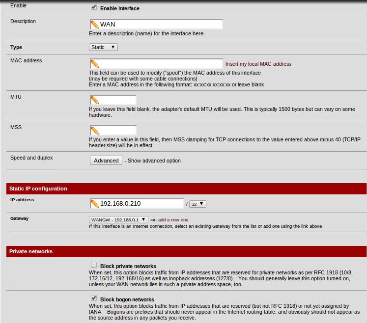 PFSense, Static IPs etc - The Cloud (Internet, Network, VPN
