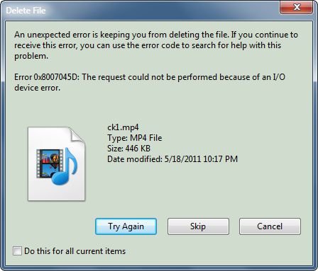 unable to delete file from pendrive , any guess why so / - Microsoft