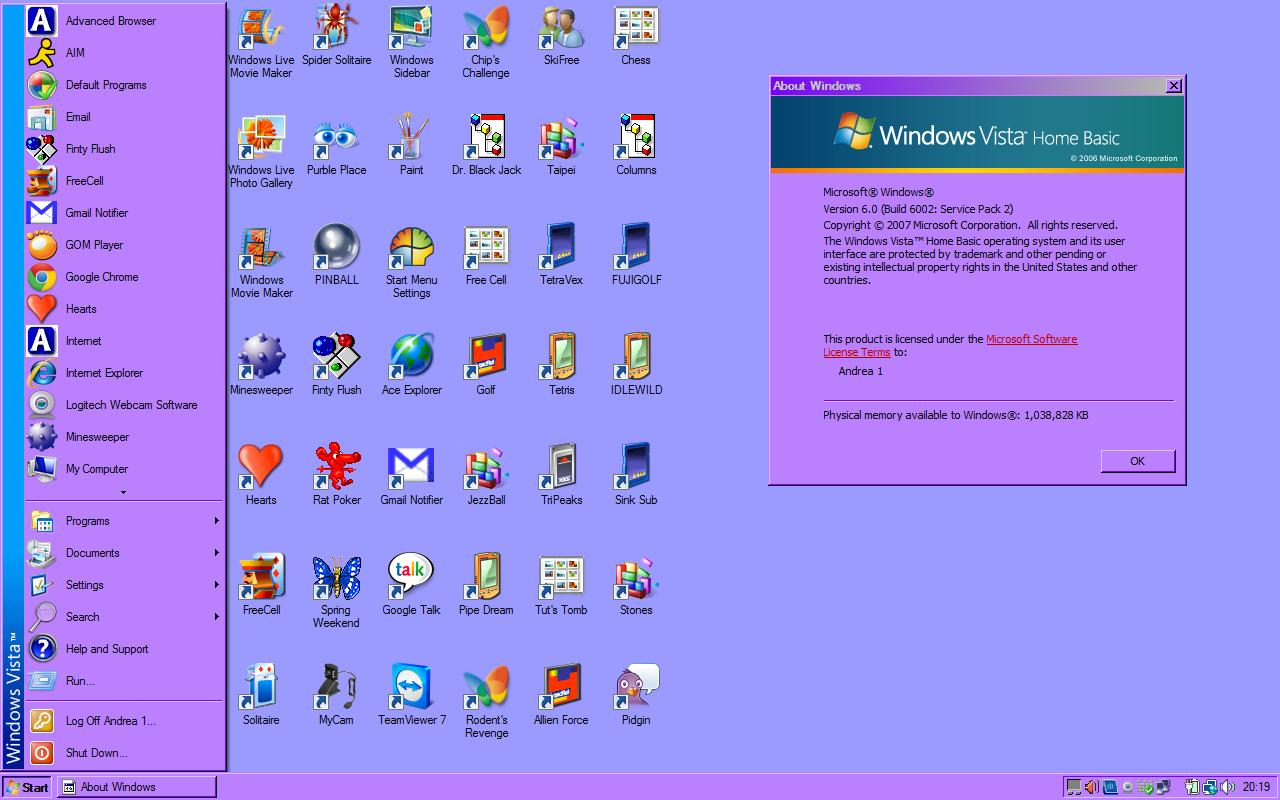 Microsoft Classic Start menu on Vista..jpg