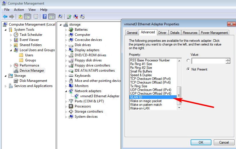 VMware Workstation - VM in different VLAN - The Cloud
