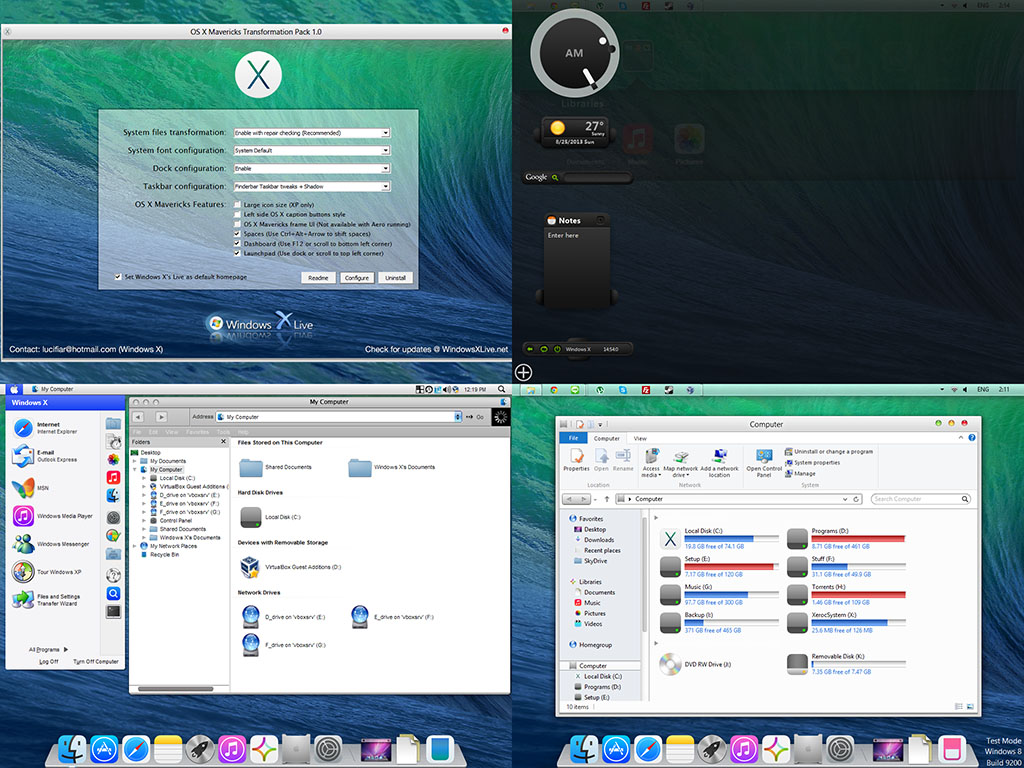 Win7 to osx lion transformation pack youtube.