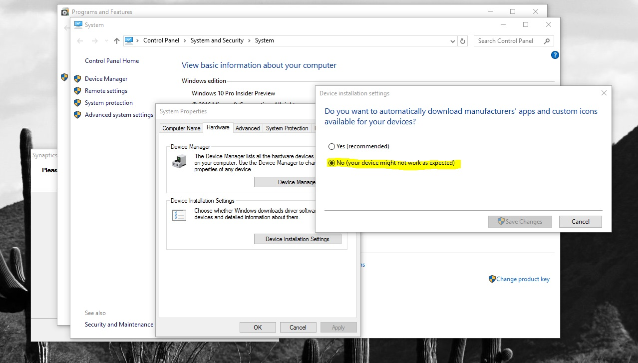 Windows 10 just keeps installing the darned driver    - Software