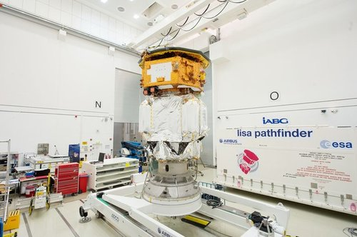 LISA_Pathfinder_launch_composite_at_IABG