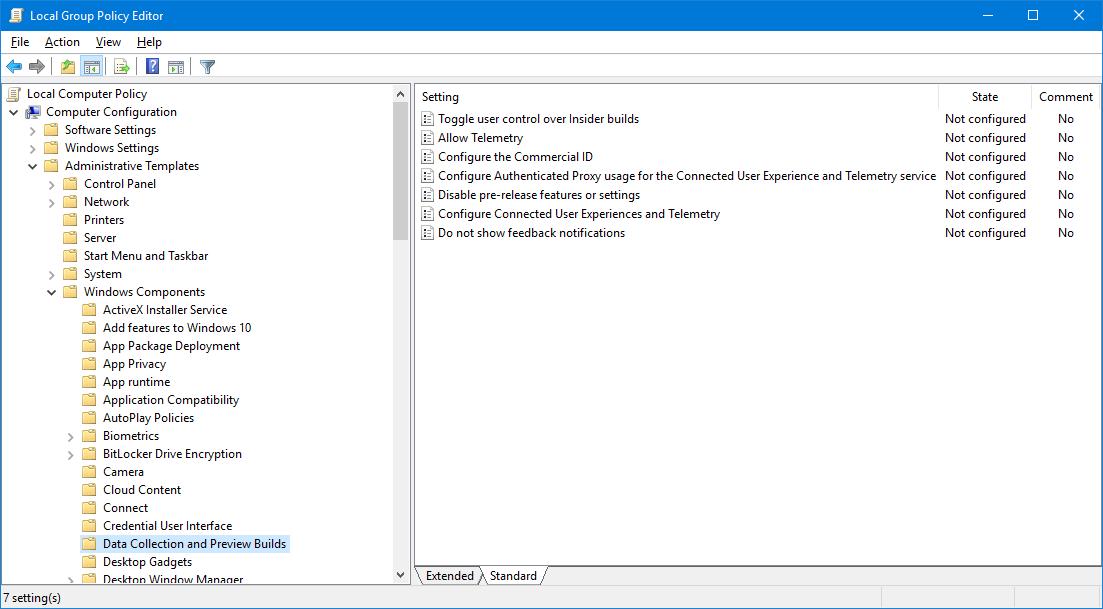windows 10 deactivate data collection