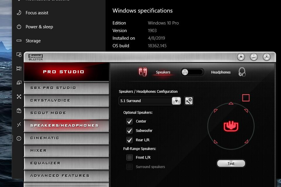 1903 v145 and SoundBlaster Z - Microsoft Windows - Neowin