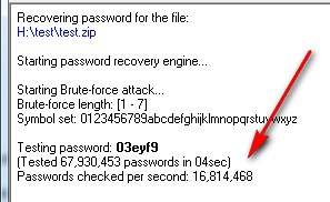 How do I open a zip file with password protected Word files