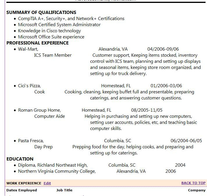 messed up resume on job sites