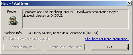 Halo Direct3D Problem - Computer Gaming - Neowin