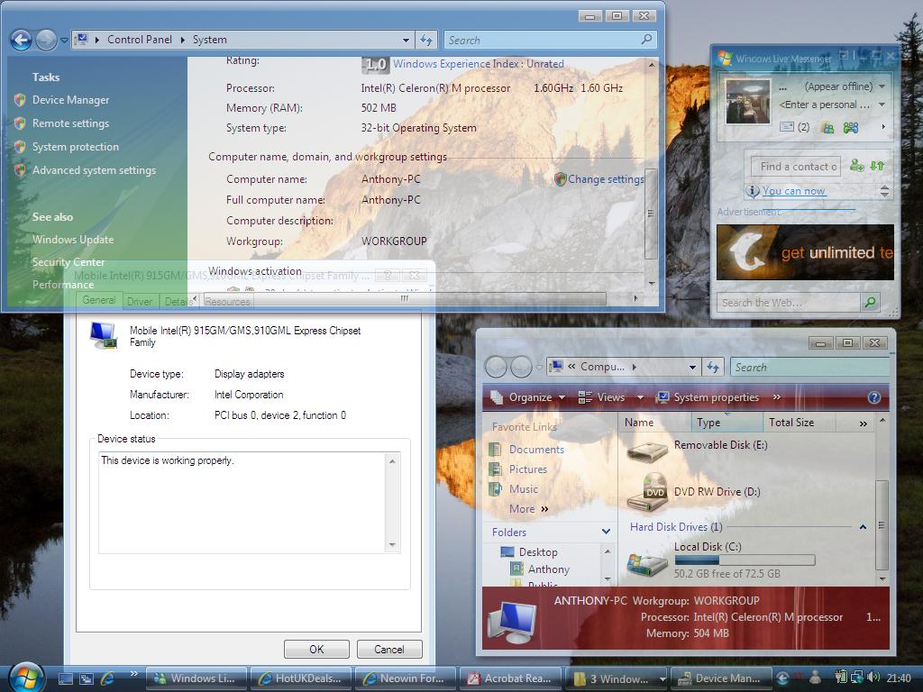 Frequently Asked Questions for Intel Graphics and Windows Vista