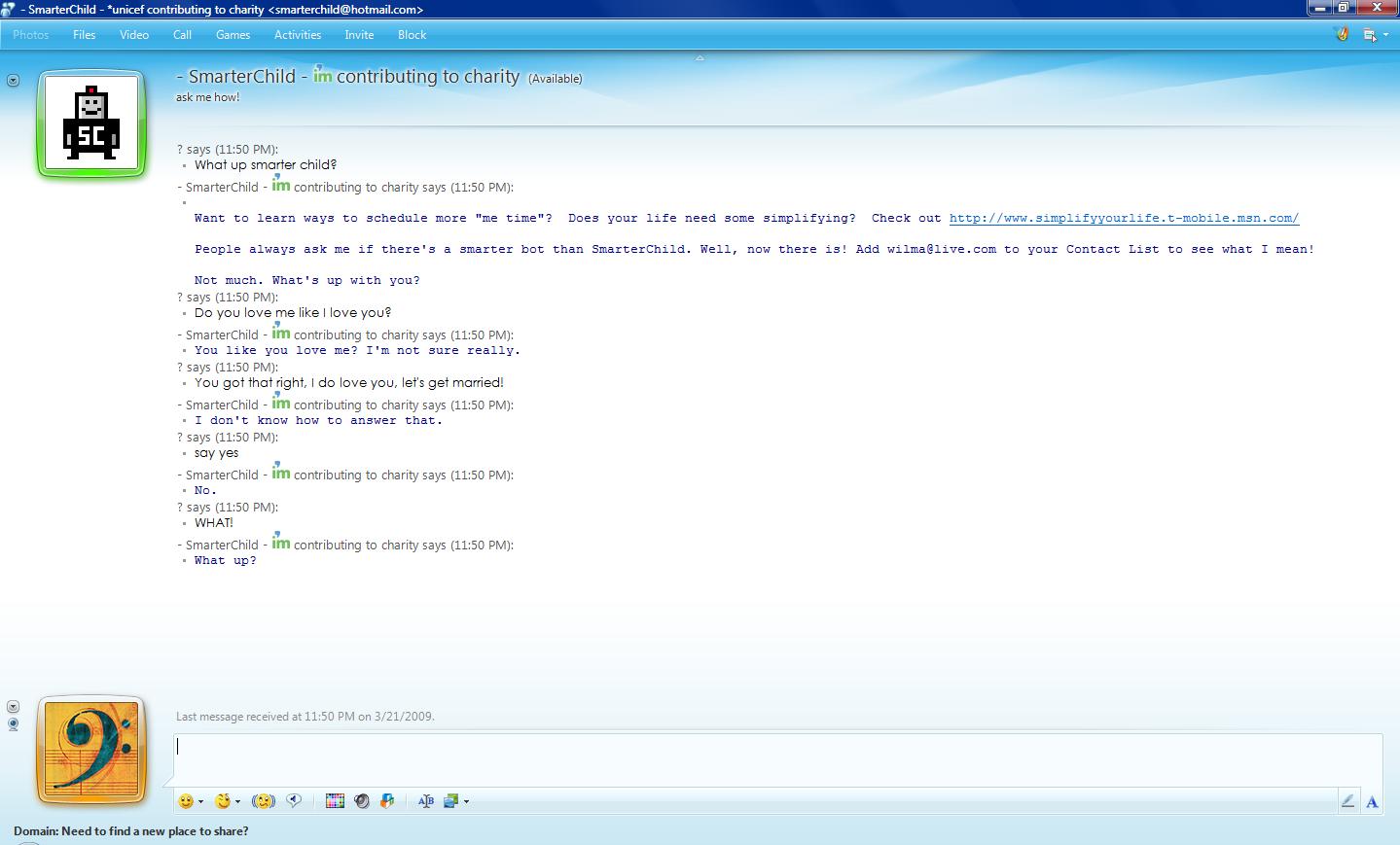 kontakt chat msn chat