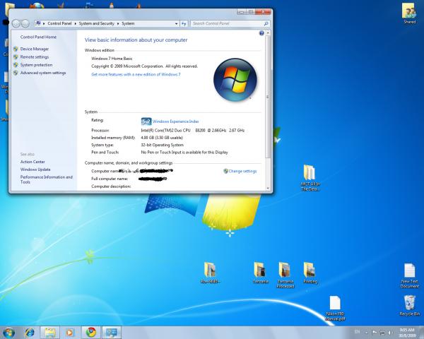 Windows Home Basic 7 SP1 32-bit Arabic MEA 1pk DSP OEI 611 DVD