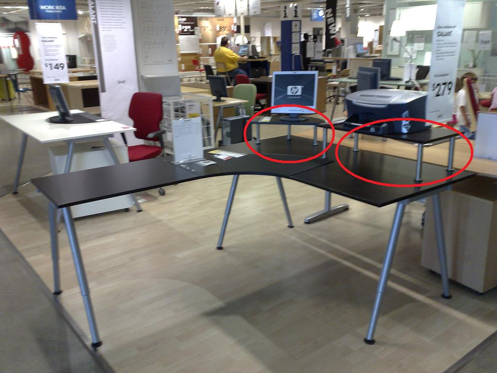 Trying to find this desk table from ikea general for Ikea assis stand bureau canada