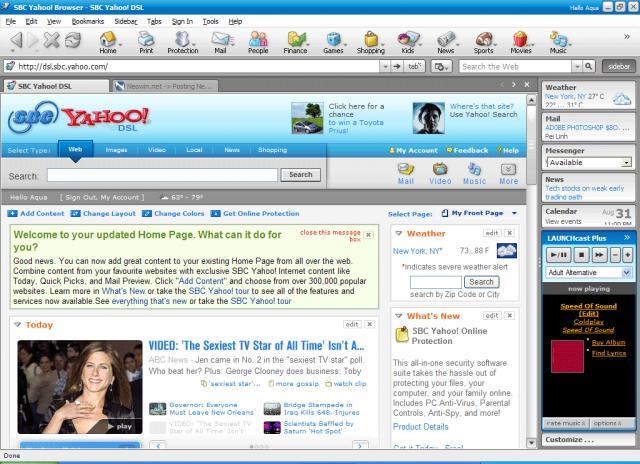 Yahoo! Browser 5. 0 & verizon yahoo for dsl back page news neowin.