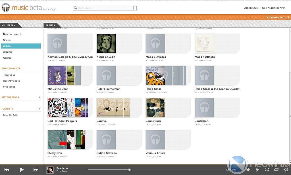 Review: Google Music Beta; it's definitely in Beta