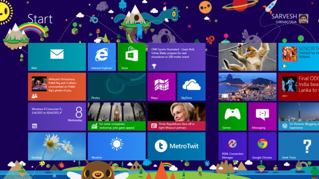 These are the backgrounds for the start screen in Windows 8 - Neowin