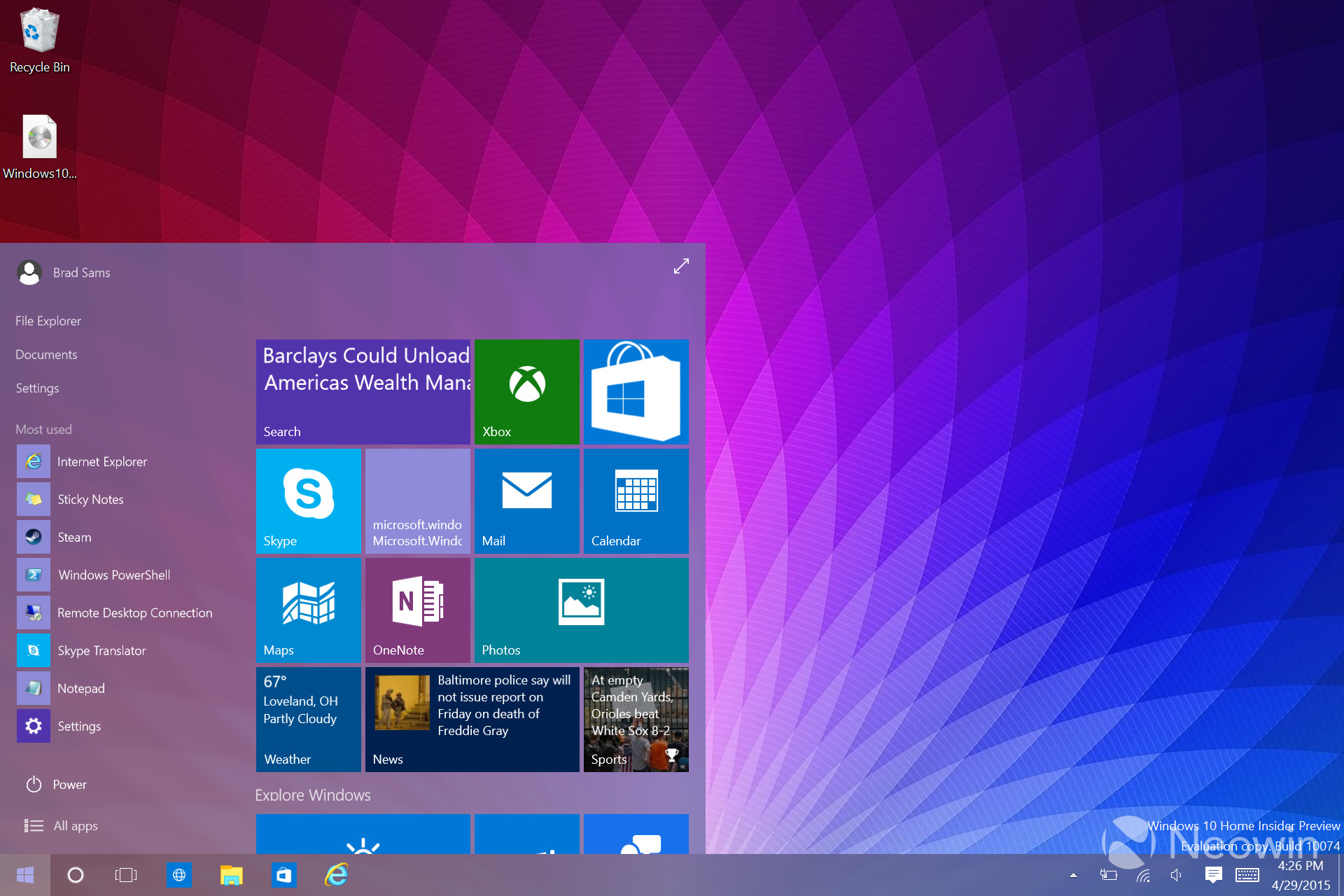 windows 10 neon project how to get it now