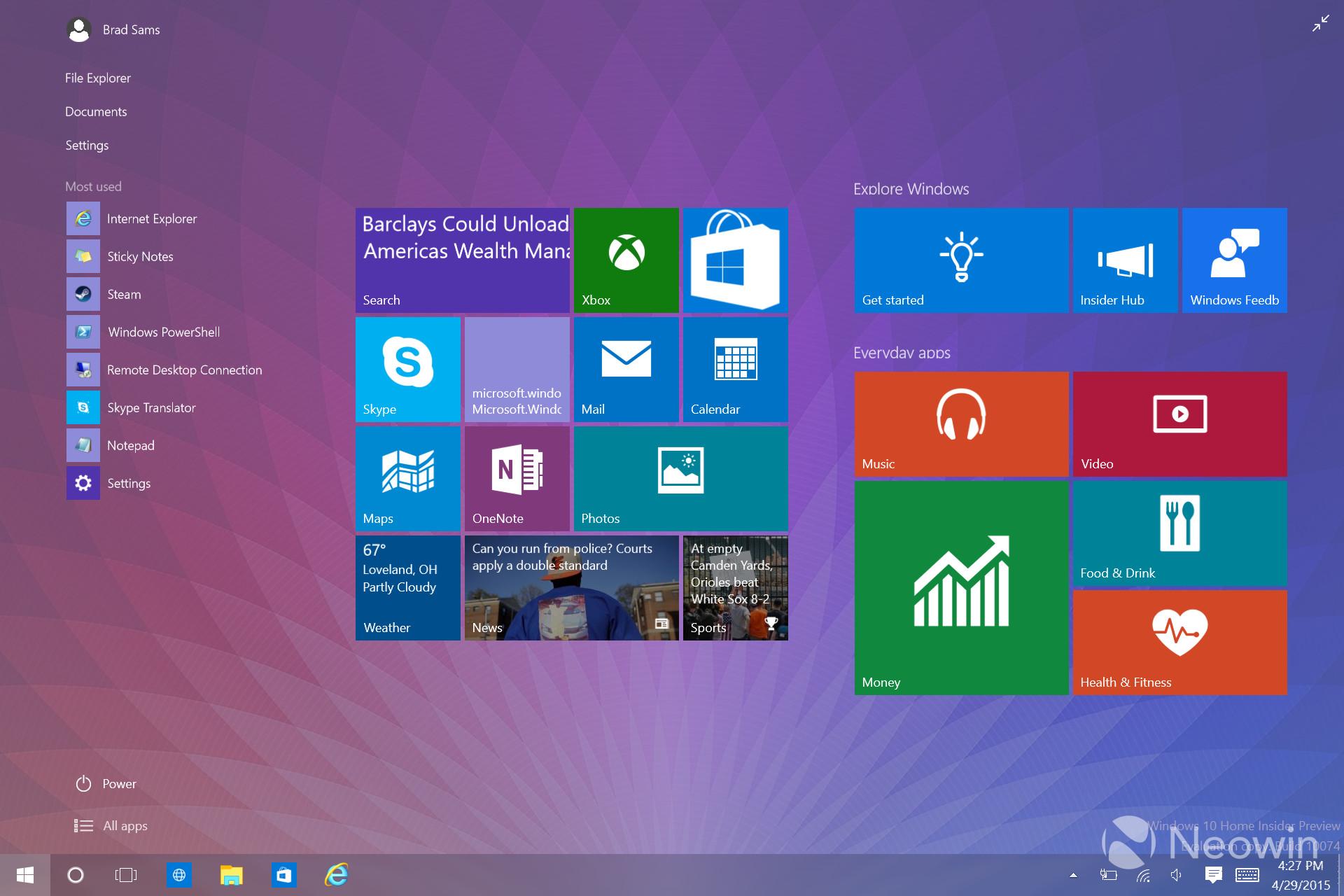 Pubg Windows 10 Theme: Gallery: Windows 10 Insider Preview Build 10074