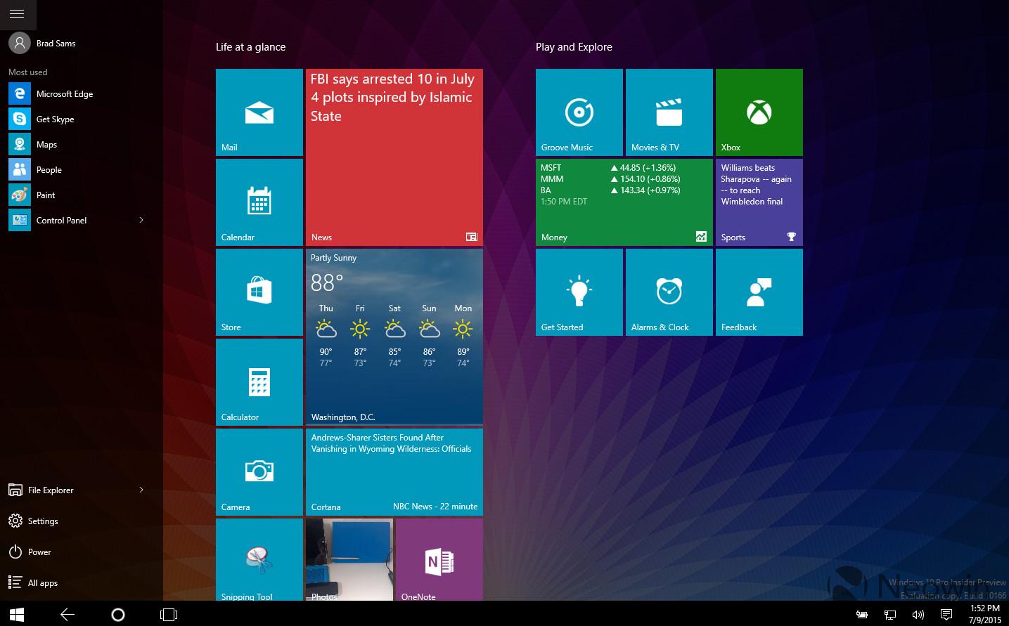 Pubg Windows 10 Theme: Gallery: Windows 10 Build 10166