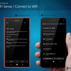 WiFi Sense (WP8.1) / Connect to WiFi (W10M)