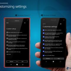 Customizing settings