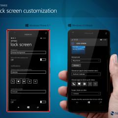 Lock screen customization