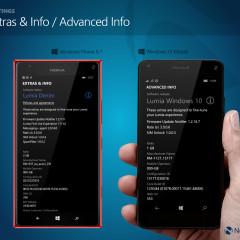 Extras & Info (WP8.1) / Advanced Info (W10M)