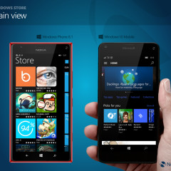 Windows Store - main view at launch