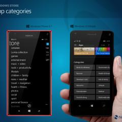 Windows Store app categories