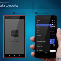 Windows Store media categories (W10M)