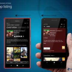 Windows Store app listing