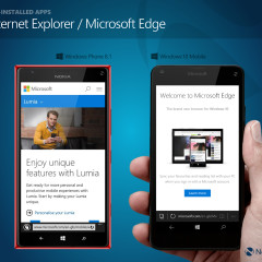 Internet Explorer (WP8.1) / Microsoft Edge (W10M)