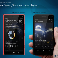 Xbox Music (WP8.1) / Groove (W10M) - now playing