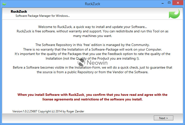 RuckZuck: Linux-style package manager for Windows to update