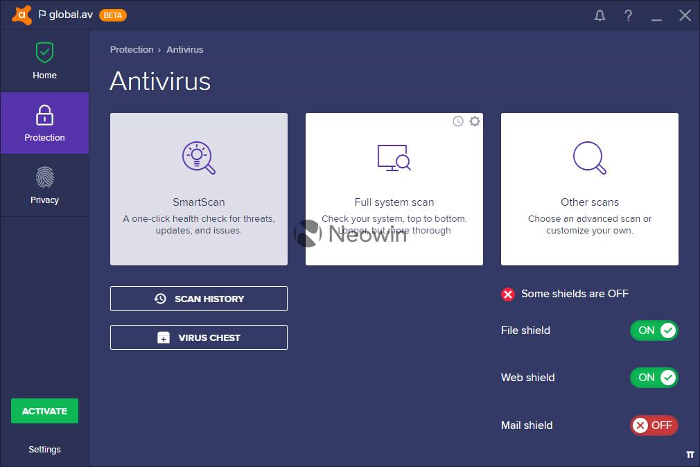 avast desktop gadget