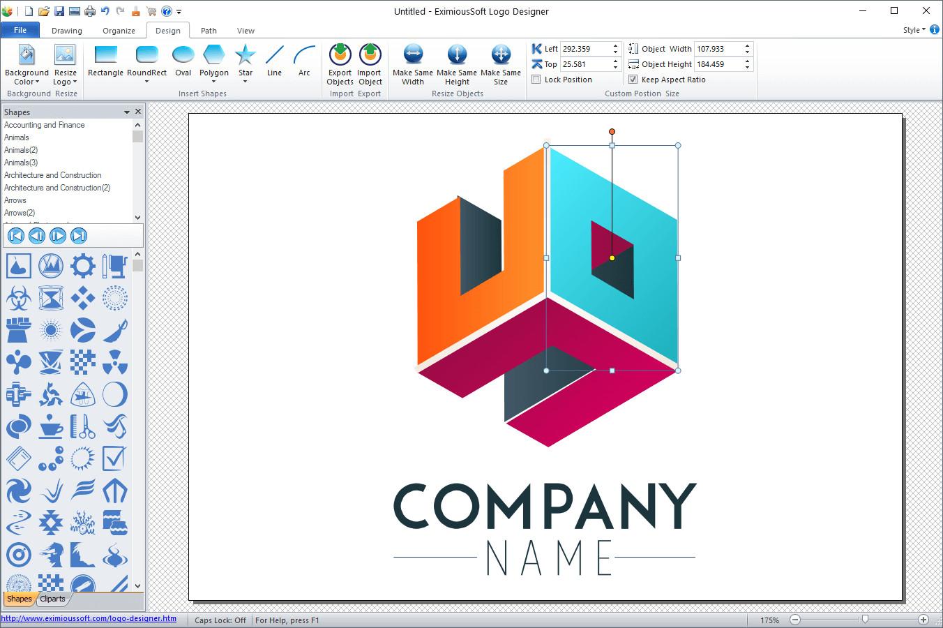 Eximioussoft logo designer pro neowin for Logo drawing program