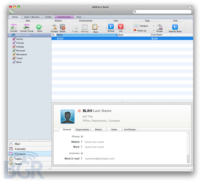 Microsoft Office 2011 For Mac Screenshots Revealed