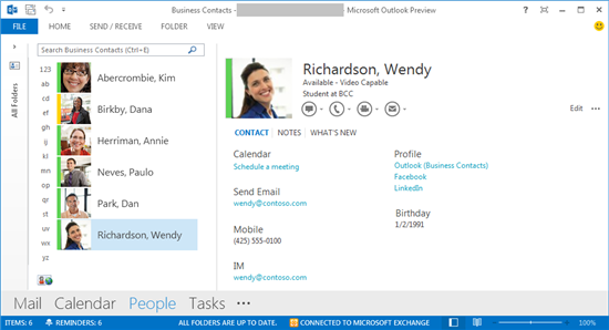 "Microsoft goes ""Up With People"" in Outlook 2013"