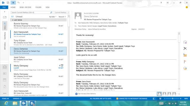 Outlook 2013 support for tablets and smartphones explained - Neowin