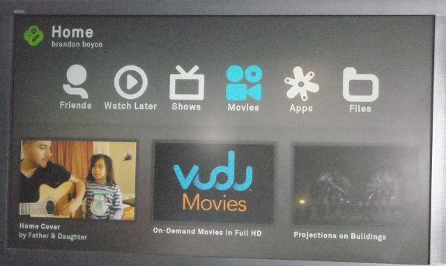 boxee home screen