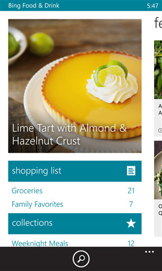 Microsoft releases bing food drink app for windows phone neowin now the company is porting yet another of its bing apps from windows 81 to its mobile os with the beta release of bing food drink forumfinder Gallery