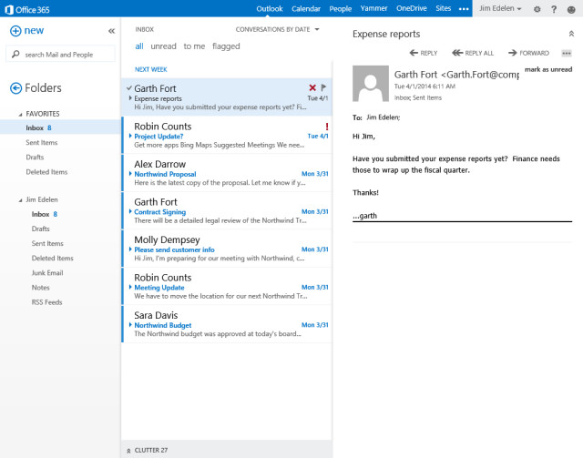 Microsoft reveals major Outlook Web App features coming for