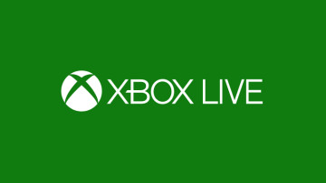 A logo of Xbox Live on a green background