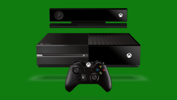 Initial Xbox One model with Kinect