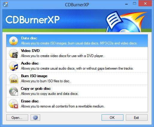 Cdburnerxp как создать iso видео