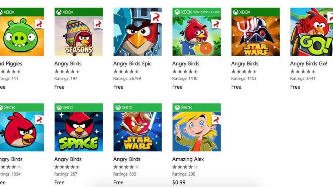 Windows Phone users get Rovio's Angry Birds games for free for a ...