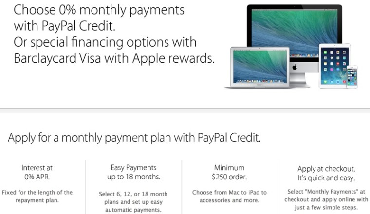 Stores That Accept Paypal Credit Online >> Apple S Us And Uk Online Retail Stores Are Now Accepting