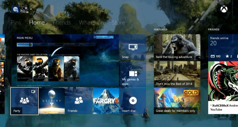 Sams Credit Login >> Xbox One dashboard with transparent tiles spotted on Major ...