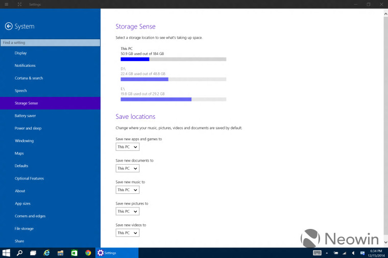 Windows Storage Sense Improvements In Build Including New - Invoice software for windows 10